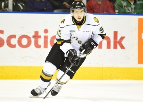 Mitchell Marner of the London Knights. Photo by Aaron Bell/OHL Images